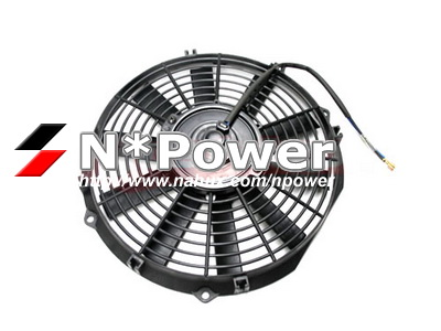 LOW-PROFILE-THERMO-FAN-STRAIGHT-BLADE-PUSH-TYPE-12-RADIATOR-ELECTRIC